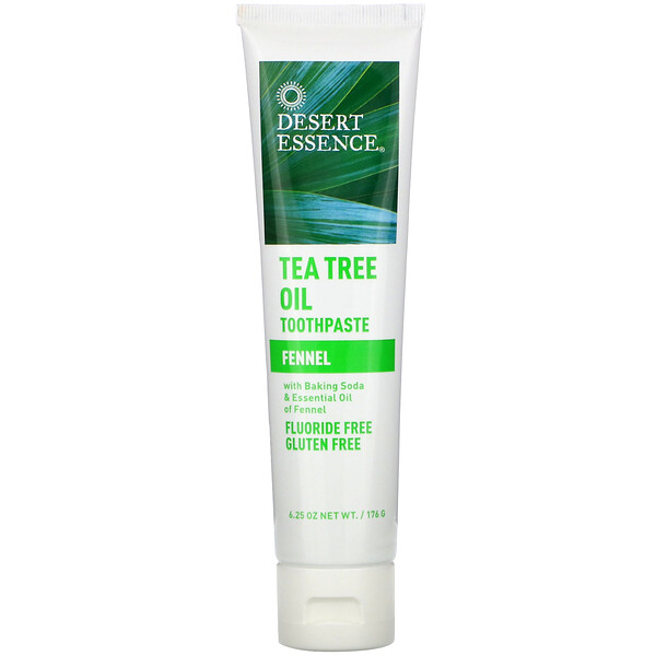 Desert Essence, Tea Tree Oil Toothpaste, Fennel, 6.25 oz (176 g)