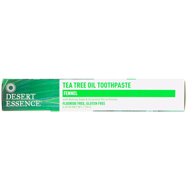 Desert Essence, Tea Tree Oil Toothpaste, Fennel, 6、25 oz (176 g)