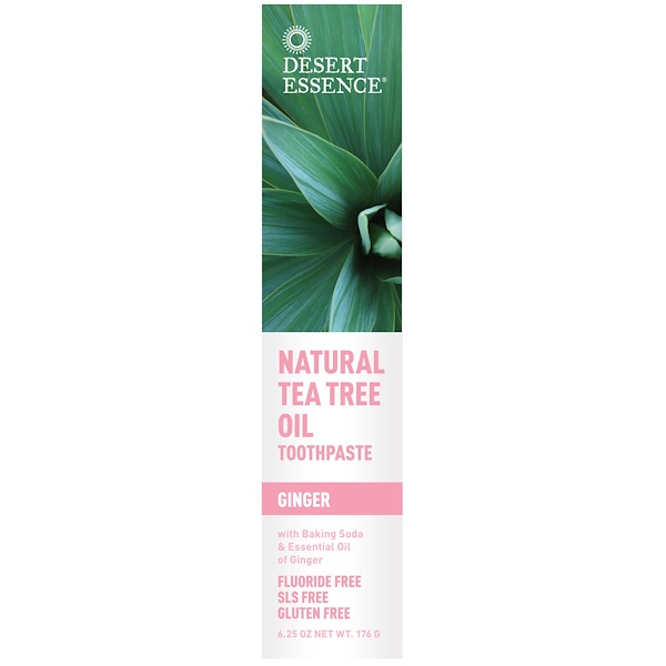 Desert Essence, Natural Tea Tree Oil Toothpaste, Ginger, 6.25 oz (176 g) (Discontinued Item)