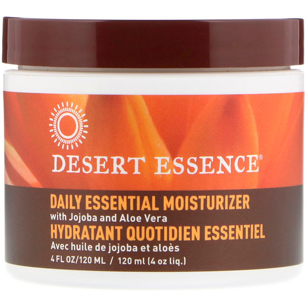 Desert Essence, Daily Essential Moisturizer, 4 fl oz (120 ml)
