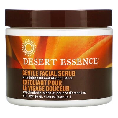 Desert Essence Gentle Facial Scrub with Jojoba Oil and Almond Meal, 4 fl oz (120 ml)