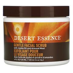 Desert Essence, 溫和面部磨砂膏,含荷荷巴油和扁桃粉,4 液量盎司(120 毫升)