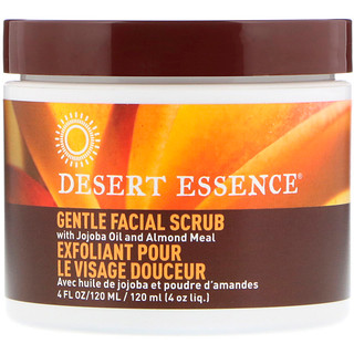 Desert Essence, Exfoliante facial estimulante suave, 4 fl oz (120 ml)