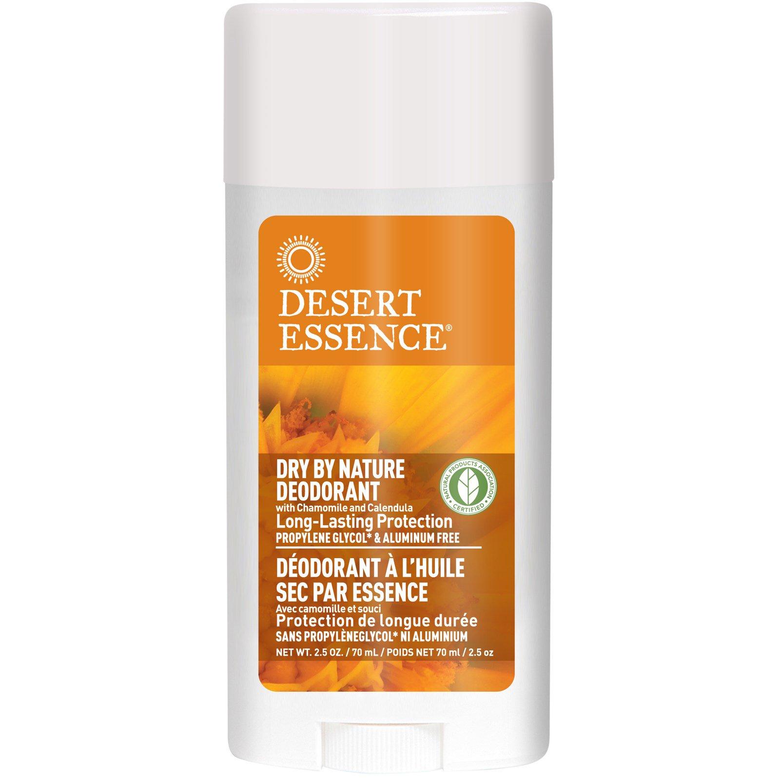 """Desert Essence, Сухой дезодорант """"От природы"""", с ромашкой и календулой, 2,5 унции (70 мл)"""
