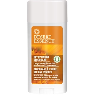 Desert Essence, Dry By Nature Deodorant, with Chamomile and Calendula, 2.5 oz (70 ml)