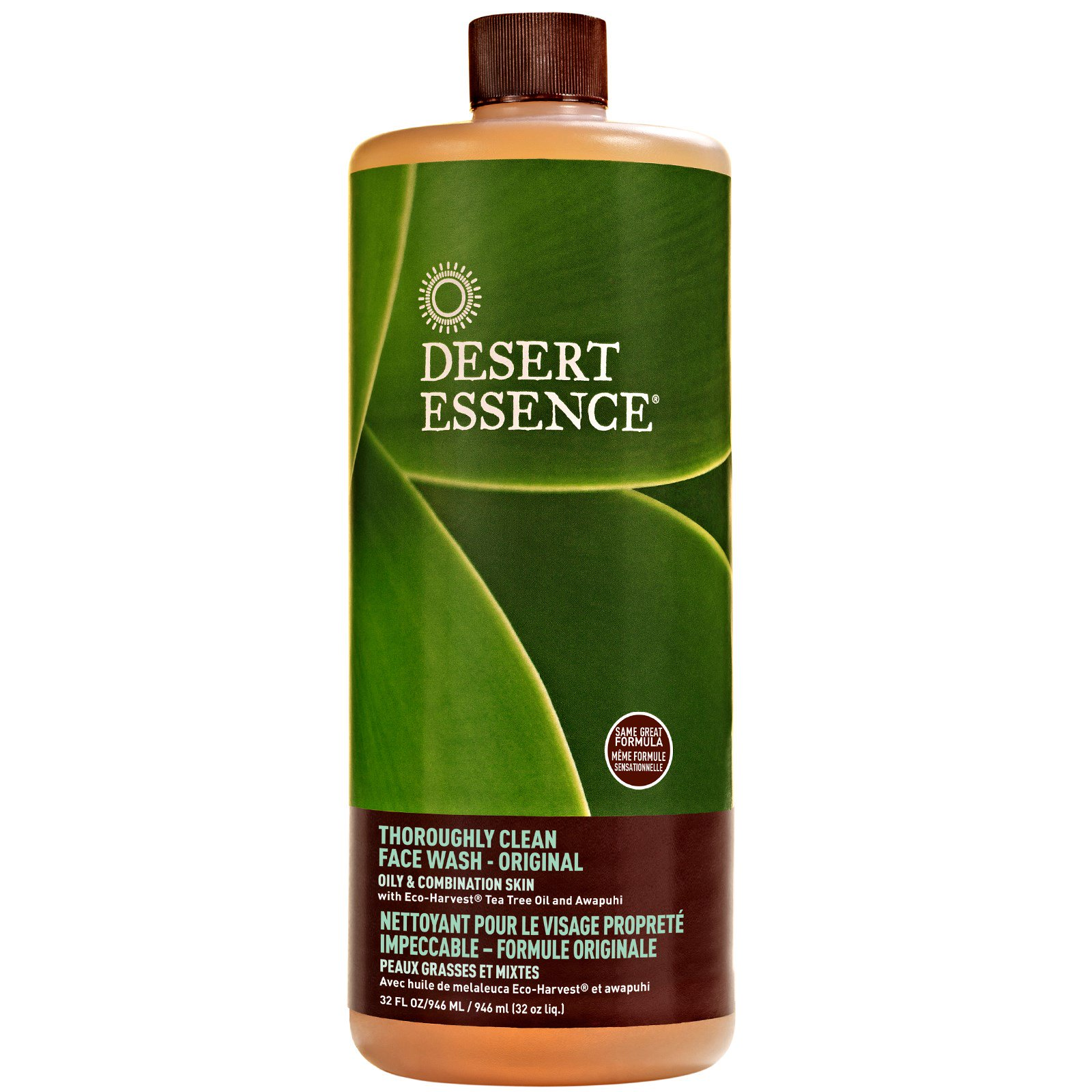 Desert Essence Desert Essence  Face Wash, 4 oz Ambrosia Aromatherapy Rosehip Vitamin Moisturizer 2oz