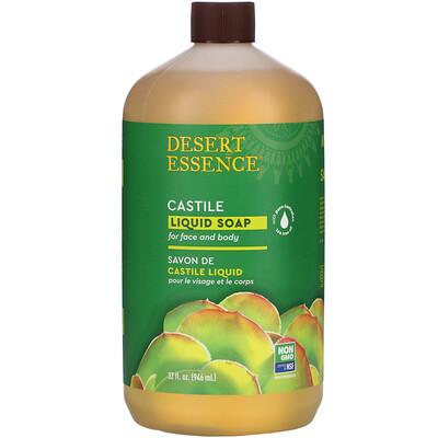 Купить Desert Essence Кастильское жидкое мыло с маслом чайного дерева Eco-Harvest, 960 мл (32 жидких унции)