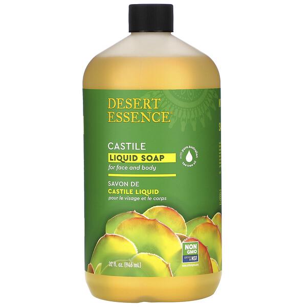 Castile Liquid Soap with Eco-Harvest Tea Tree Oil, 32 fl oz (960 ml)