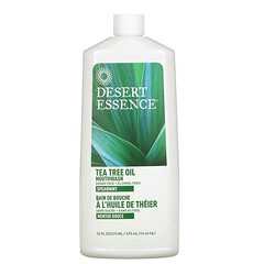 Desert Essence, 茶樹油漱口水,綠薄荷味,16 液量盎司(473 毫升)