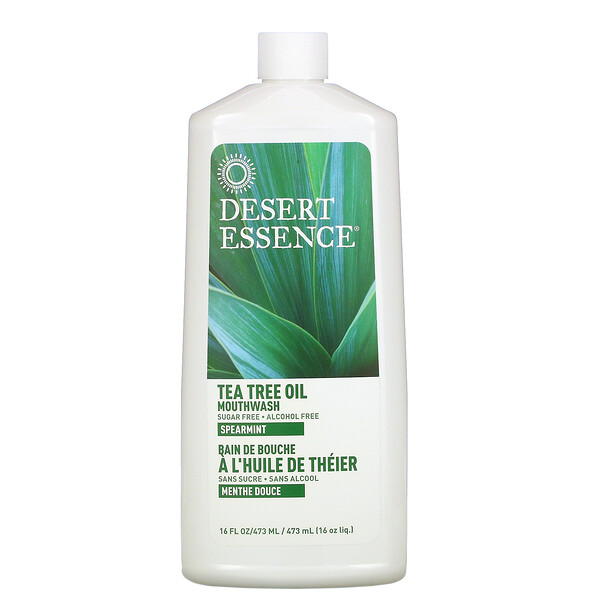 Tea Tree Oil Mouthwash, Spearmint, 16 fl oz (473 ml)