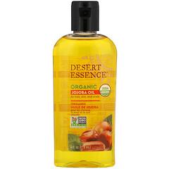 Desert Essence, Organic Jojoba Oil for Hair, Skin and  Scalp, 4 fl oz (118 ml)