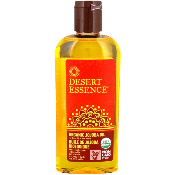 Desert Essence, Organic Jojoba Oil for Hair, Skin & Scalp, 4 fl oz (118 ml)