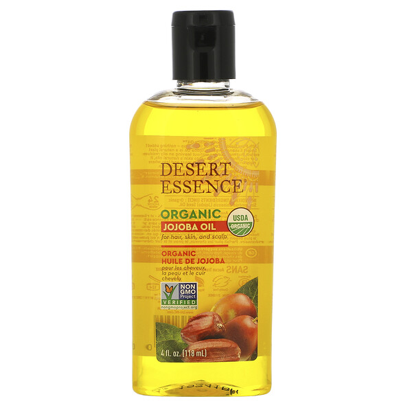 Desert Essence, Organic Jojoba Oil, 4 fl oz (118 ml)