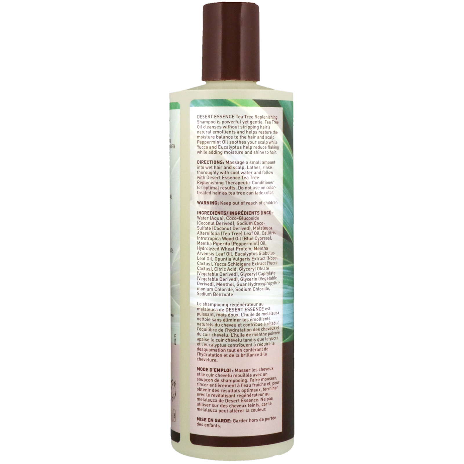 Desert Essence Tea Tree Replenishing Shampoo 12 9 Fl Oz 382 Ml