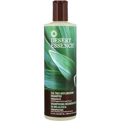 Desert Essence, Tea Tree Replenishing Shampoo, 12.9 fl oz (382 ml)