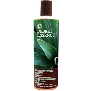 Desert Essence, Tea Tree Replenishing Shampoo, 12.9 fl oz (382 ml)