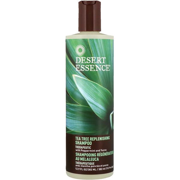 Desert Essence, Tea Tree Replenishing Shampoo、12.9液量オンス (382 ml)