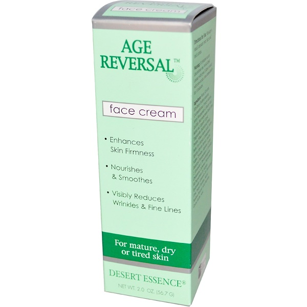 Desert Essence, Age Reversal, Face Cream, For Mature, Dry or Tired Skin, 2.0 oz (56.7 g) (Discontinued Item)