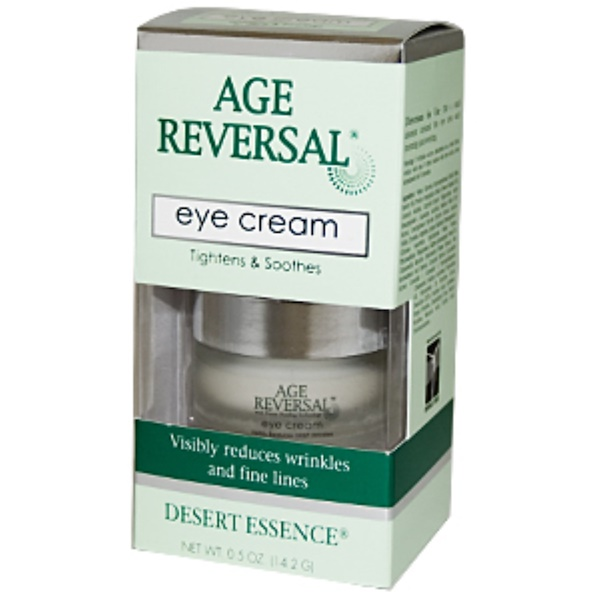 Desert Essence, Age Reversal Eye Cream, 0.5 oz (14.2 g) (Discontinued Item)