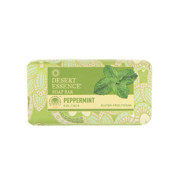 Desert Essence, Barra de jabón, hierbabuena, 5 onzas (142 g)