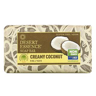 Desert Essence, Soap Bar, Creamy Coconut, 5 oz (142 g)