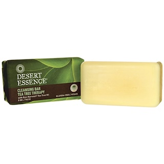 Desert Essence, Cleansing Bar Tea Tree Therapy, 5 oz (142 g)