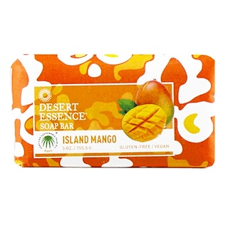 Desert Essence, Soap Bar, Island Mango, 5 oz (155.5 g)