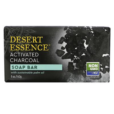 Desert Essence Soap Bar, Activated Charcoal, 5 oz (142 g)