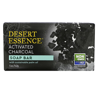 Desert Essence, 固形石鹸、活性炭、142g(5オンス)