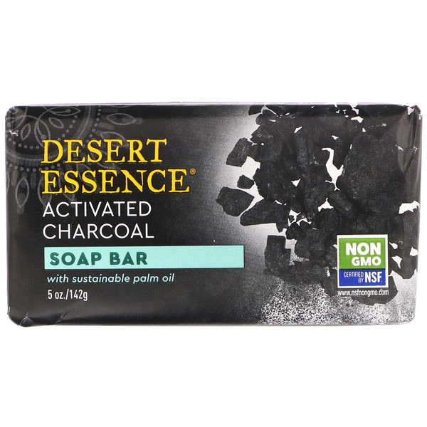 Soap Bar, Activated Charcoal, 5 oz (142 g)
