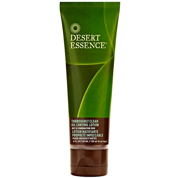 Desert Essence, Thoroughly Clean Oil Control Lotion, Oily & Combination Skin, 4 fl oz (120 ml) (Discontinued Item)