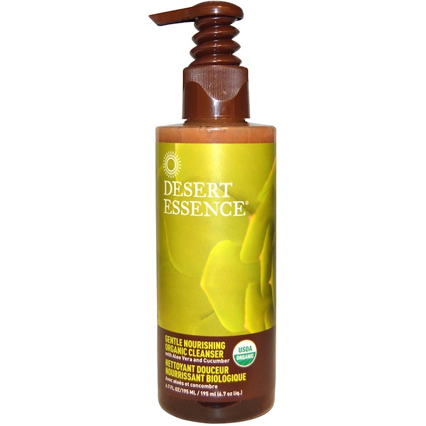 Desert Essence, 穏やかに栄養を与える有機クレンザー, 6.7液量オンス(195 ml)