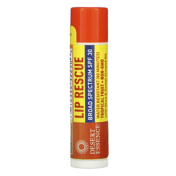 Lip Rescue, SPF 30, Tropical Fruit, .15 oz (4.25 g)