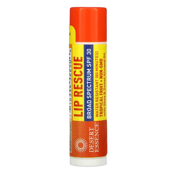 Desert Essence, Lip Rescue, SPF 30, Tropical Fruit, .15 oz (4.25 g)