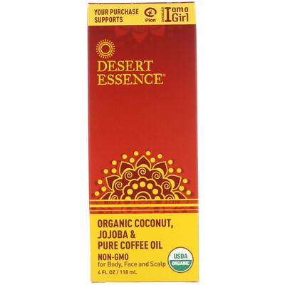 Купить Органическое масло кокоса, жожоба & кофе, 4 унции (118 мл)