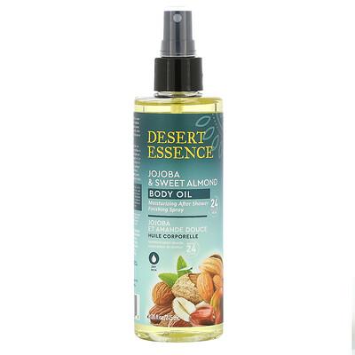 Купить Desert Essence Jojoba & Sweet Almond Body Oil Spray, 8.28 fl oz (245 ml)