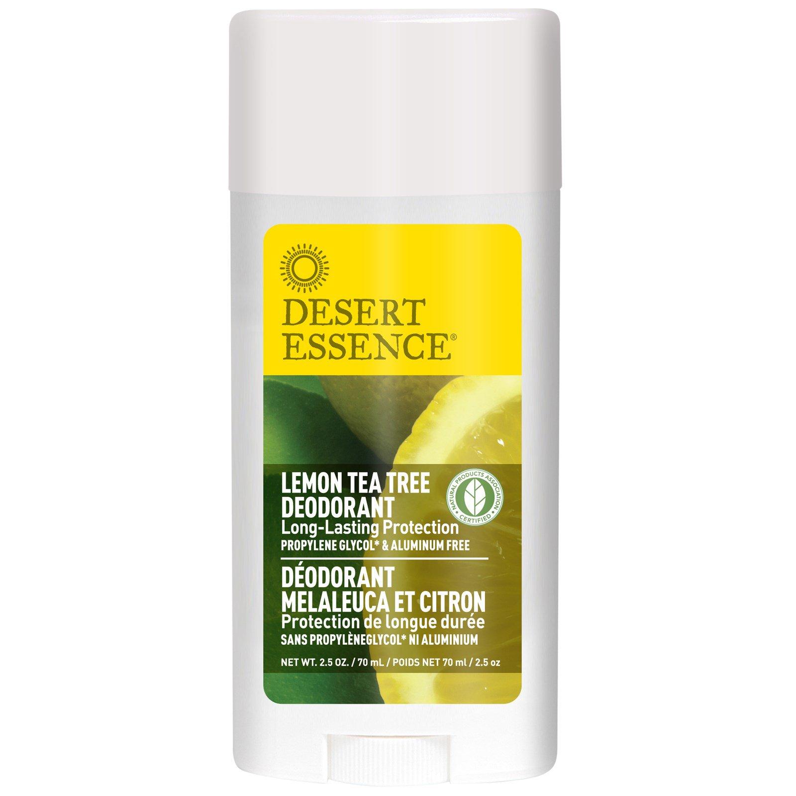 Desert Essence, Дезодорант, лимон чайное дерево, 2,5 унции (70 мл)