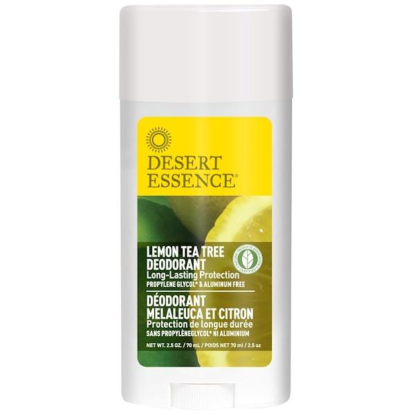Desert Essence, Deodorant, Lemon Tea Tree, 2.5 oz (70 ml)
