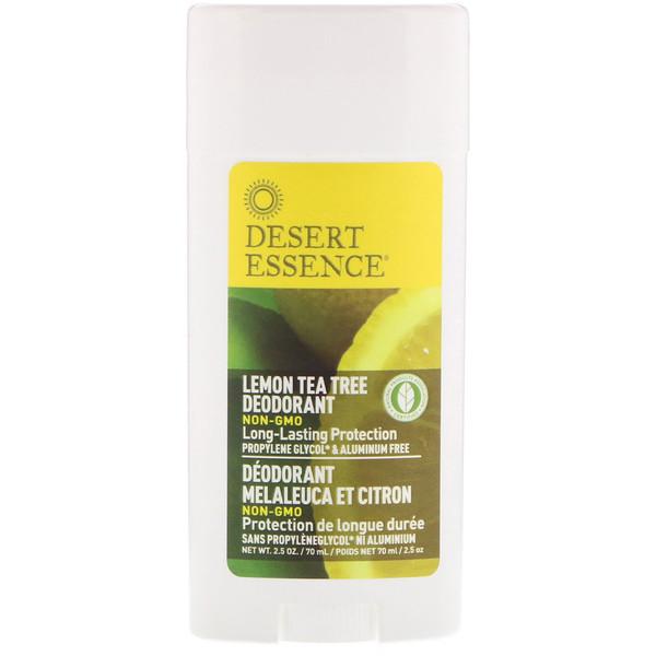 Desodorante, árbol de té y limón, 2.5 oz (70 ml)