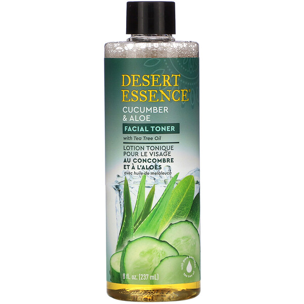 Desert Essence, Facial Toner, Cucumber & Aloe, 8 oz (237 ml)