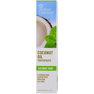 Desert Essence, Coconut Oil Toothpaste, Coconut Mint, 6.25 oz (176 g)