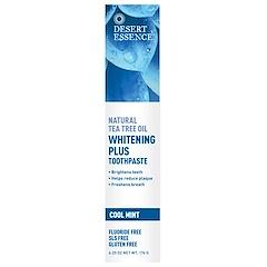 Desert Essence, Natural Tea Tree Oil Whitening Plus Toothpaste, Cool Mint, 6.25 oz (176 g)