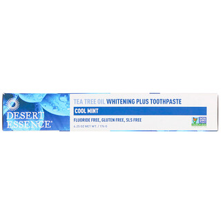 Desert Essence, Tea Tree Oil Whitening Plus Toothpaste, Cool Mint, 6.25 oz (176 g)