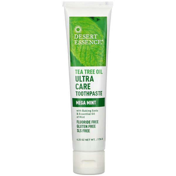 Desert Essence, Tea Tree Oil Ultra Care Toothpaste, Mega Mint, 6.25 oz (176 g)