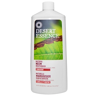 Desert Essence, Natural Neem Mouthwash, Cinnamint, 16 fl oz (480 ml)