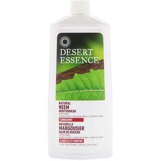 Desert Essence, Enjuague bucal natural de nim, menta y canela, 16 fl oz (480 ml)