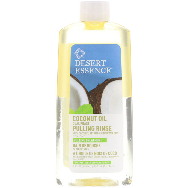 Coconut Oil Dual Phase, Pulling Rinse, 8 fl oz (240 ml)