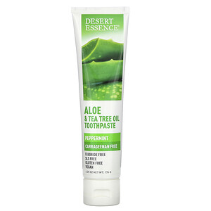 Дезерт Эссенс, Aloe & Tea Tree Oil Toothpaste, Peppermint, 6.25 oz (176 g) отзывы покупателей