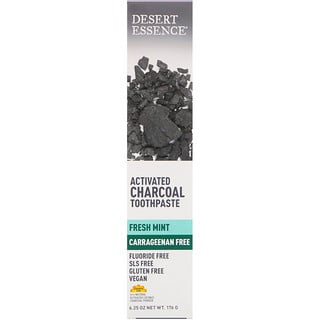 Desert Essence, Activated Charcoal Toothpaste, Fresh Mint, 6.25 oz (176 g)