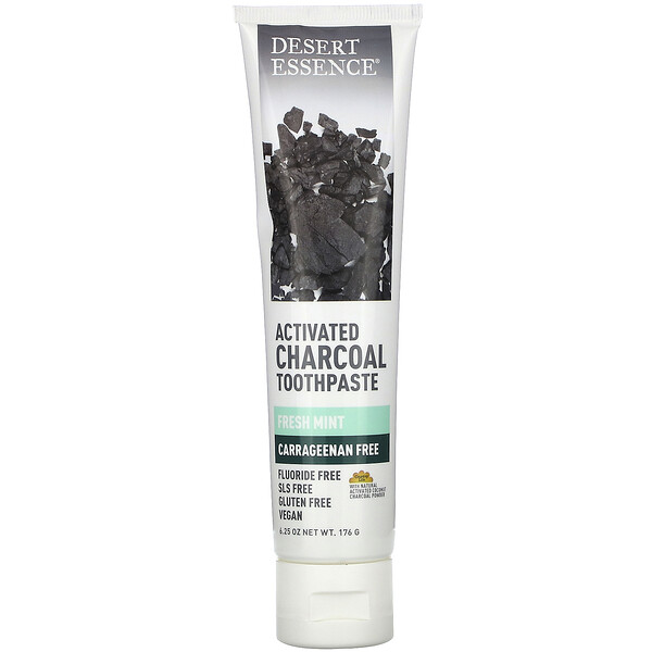 Activated Charcoal Toothpaste, Fresh Mint, 6.25 oz (176 g)